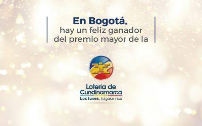 Premio mayor de la Lotería de Cundinamarca cayó en Bogotá