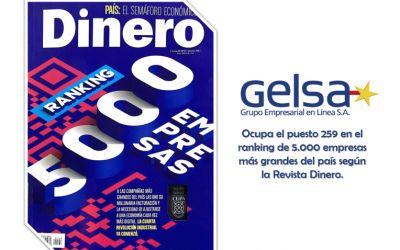 Gelsa en el especial de las 5.000 empresas más grandes de Colombia de la Revista Dinero