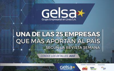 Gelsa, entre las 25 empresas que más aportan a Colombia